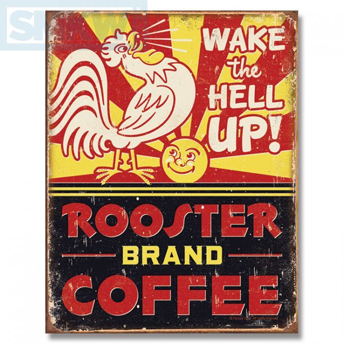 Rooster Brand Coffee Tin Sign In 2019 Vintage Tin Signs