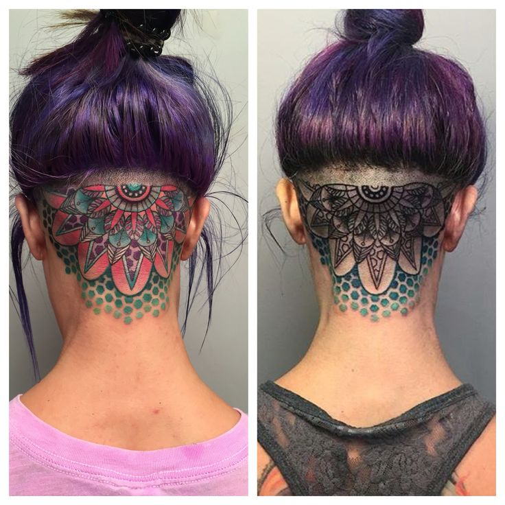head tattoo mandala tattoo by Jessica White. Sacramento, California. Reclamare Gallery and Custom Tattoo.