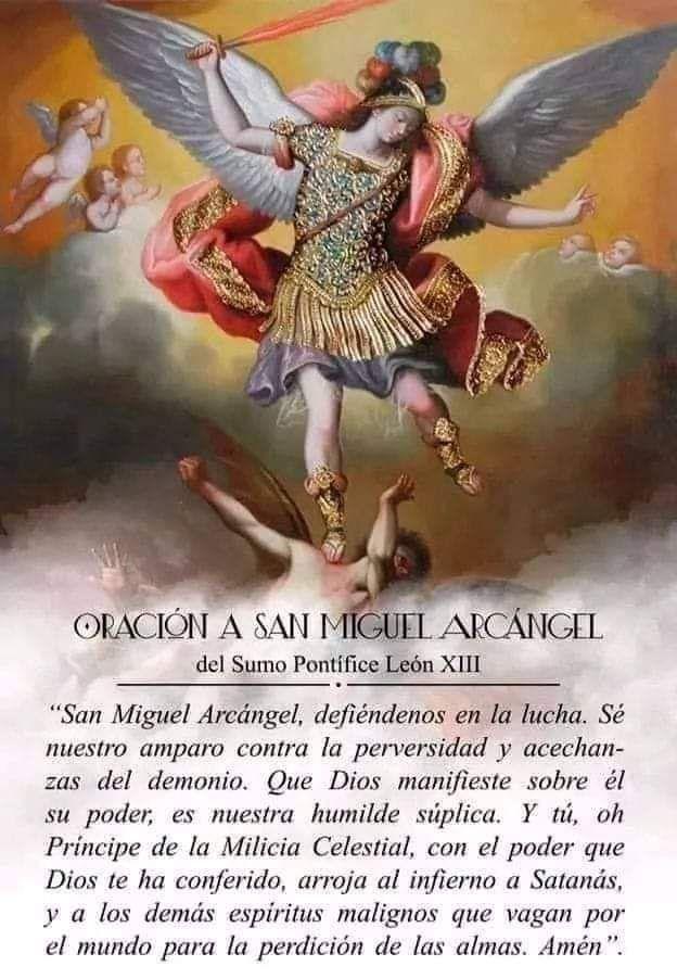 Oración A San Miguel Arcángel San Miguel Arcángel San Miguel Oracion De San Miguel