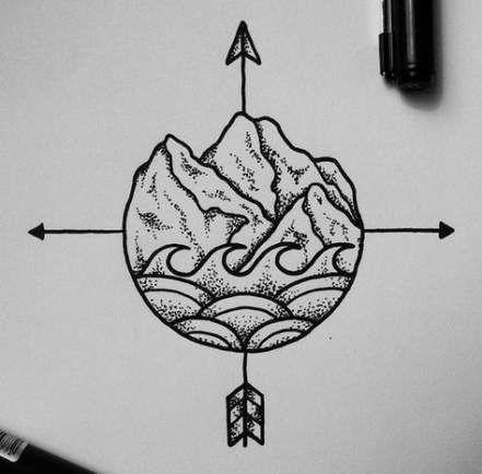 New Tattoo Wave Circle Simple Ideas