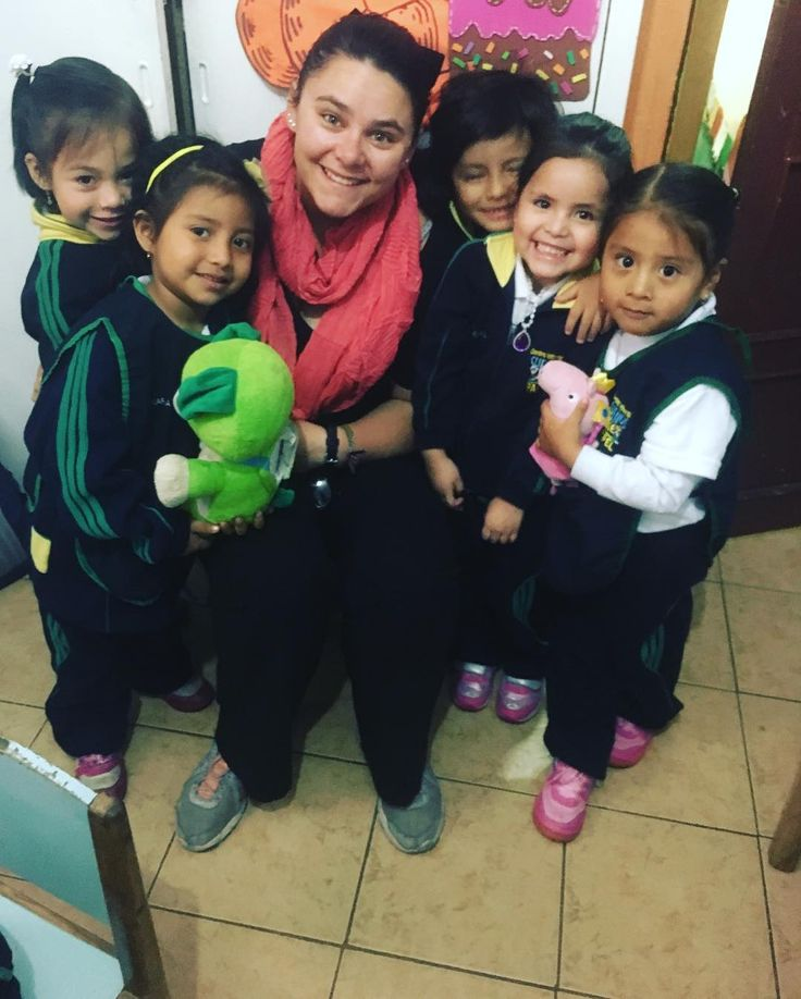 During my time in Ecuador when I was not teaching at the university I spent two mornings a week volunteering at a local pre school teaching English! I danced sung colored talked and played my mornings away with this amazingly feisty and adorable group of four year olds. #teachoverseas #travel #ecuador #ecuadorable #volunteer #teachabroad #teacherlife #adventure #volunteerabroad