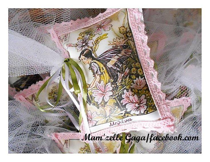 Μπομπονιερα μαξιλαρι αρωματικο με θεμα την νεραιδα. Fairy christening favor