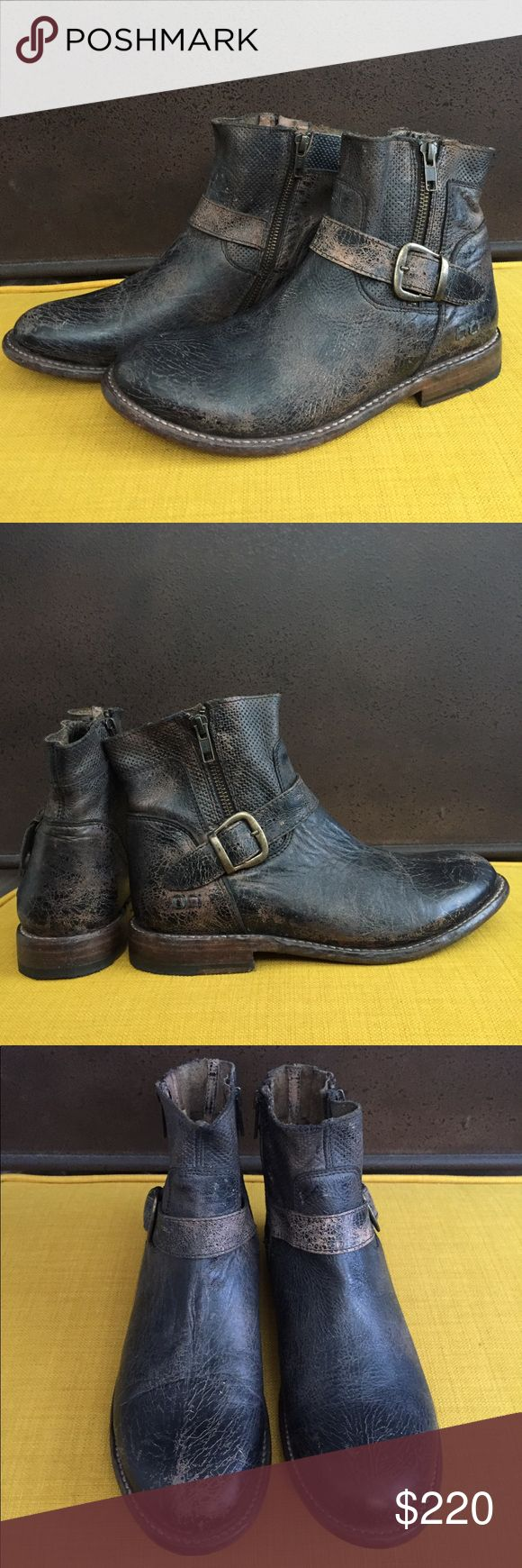 Bed Stu BECCA Zip Distressed Ankle Boots These are brand new w/out box.  They came as they are - distressed leather, as most Bed Stu items are.  Any flaws are part of the distressing process from the manufacturer.  Otherwise, there are no human flaws from wear at all.  They have not been worn outside of my house, only tried on.  They're great!  I will sell them only via Poshmark's app with their shipping policies, for my safety.  Smoke-free/Pet-free home Bed Stu Shoes Ankle Boots & Booties