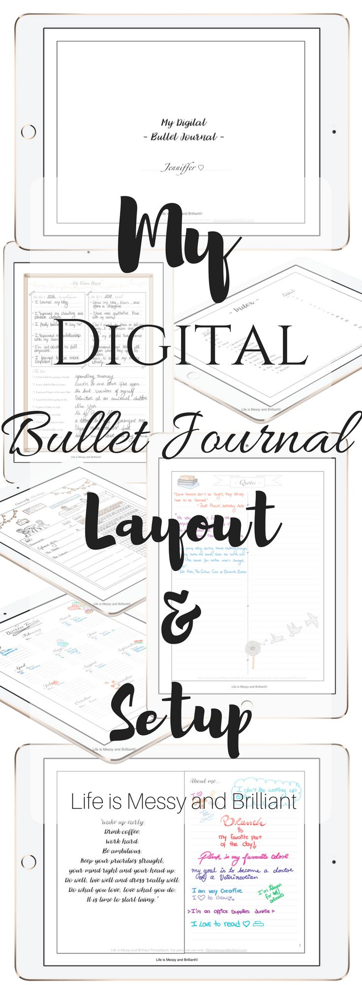 The dress journal of vision - My Digital Bullet Journal Layout And Setup