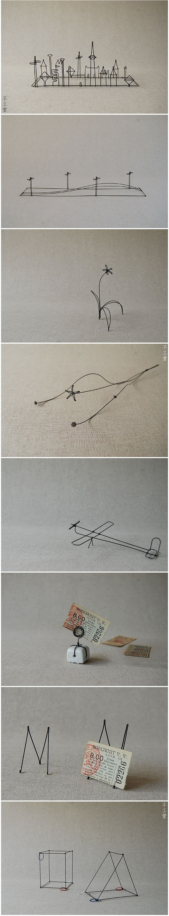 love these really wanna try making one of my drawings into a wire sculpture