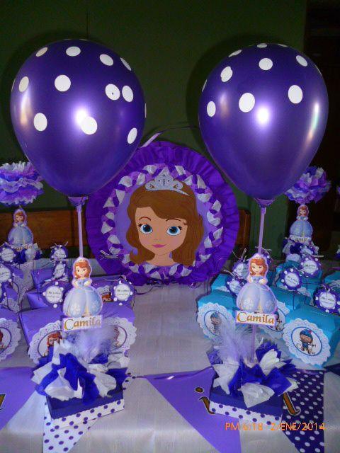 Centros de mesa de princesa sofia ideas para fiestas - Fiestas infantiles ideas ...