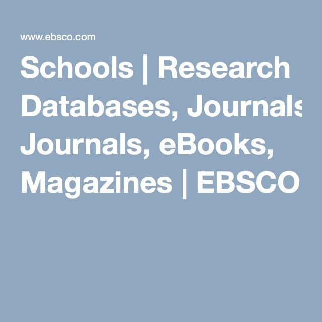 9 best celebrate national library week images on pinterest schools research databases journals ebooks magazines ebsco fandeluxe Choice Image