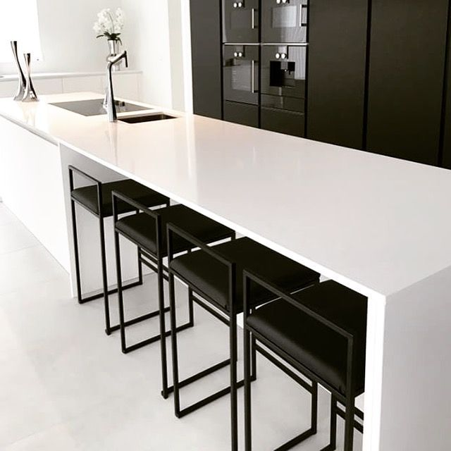 Modern Stunning With Sleek And Curvy Lines A Velvet Seat And Back And A Golden Brass Foot Rail T Bar Chairs Kitchen Contemporary Bar Chair Kitchen Interior