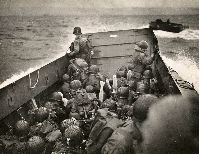 The National WWII Museum - D-Day by The National WWII Museum on Flickr.Troops bound for Omaha Beach, Normandy. #WWII