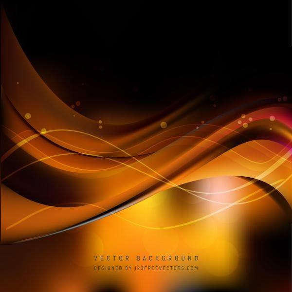 Black Orange Fire Wave Background Template Waves Background Background Templates Cool Backgrounds