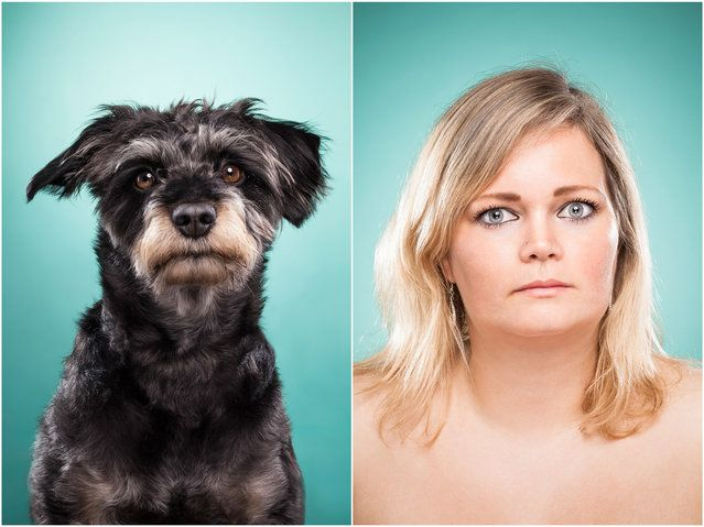 Cindy and Charly the dog. (Photo by Ines Opifanti/Caters News)| Petnook.com #Petnook