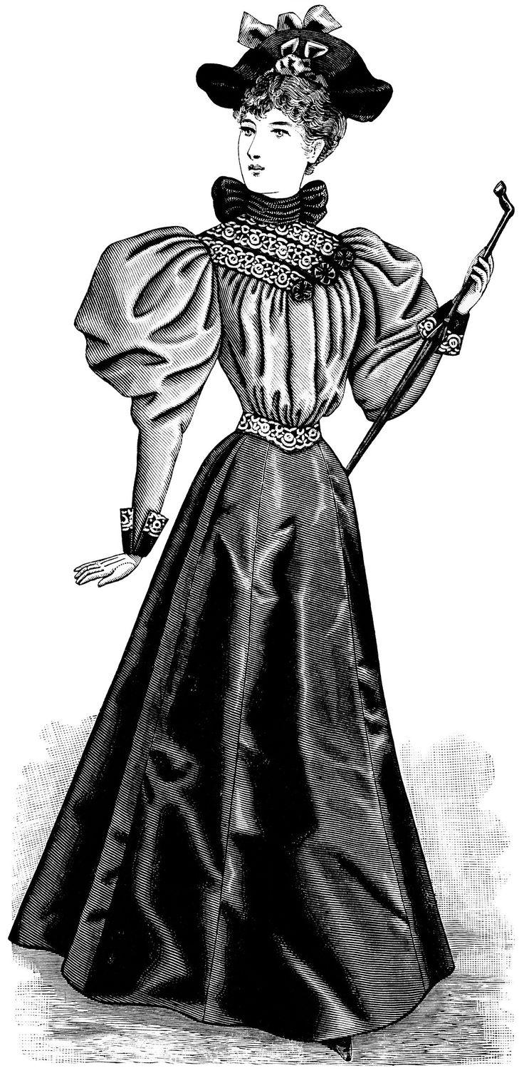 Old Design Shop ~ free digital image: Victorian fashion 1895