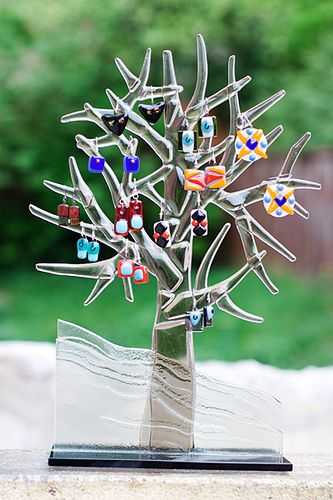Fused Glass Tree....would love to make this