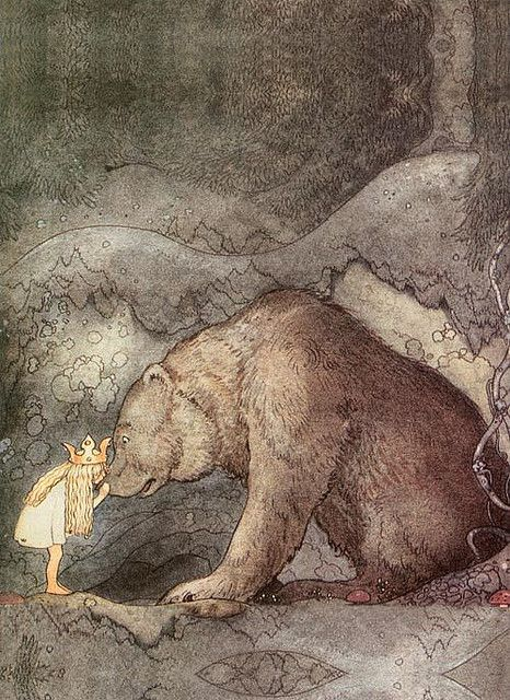 bear and child ... i'd love to be able to paint like this.  by John Bauer