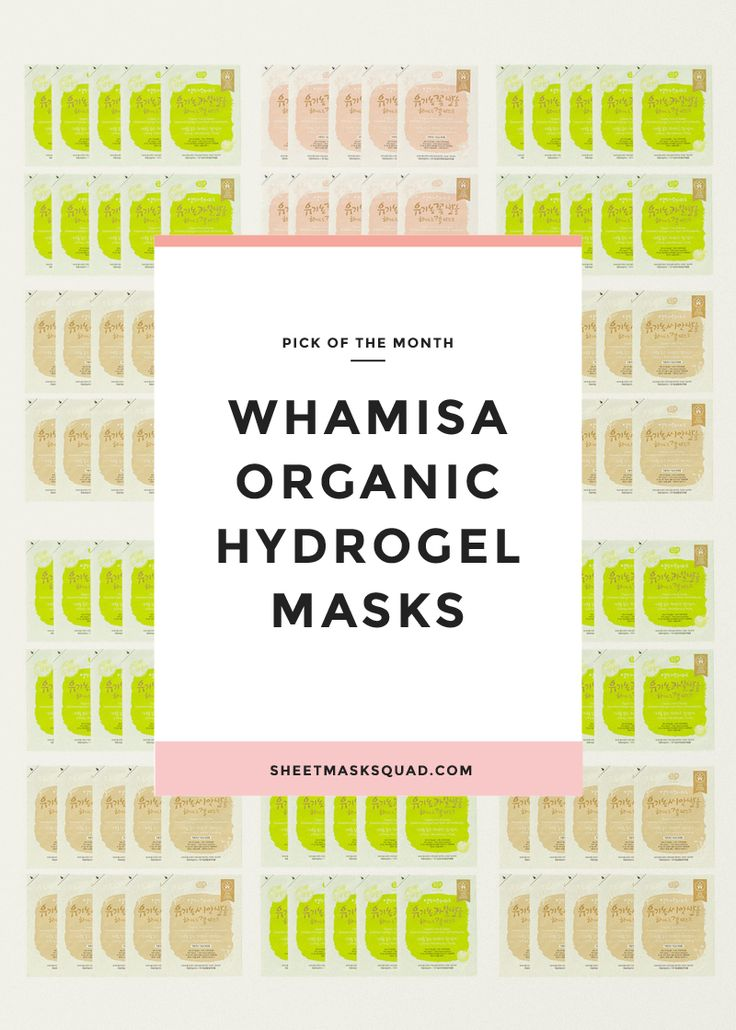 Pick of the Month: Whamisa Organic Fermented Hydrogel Sheet Masks – Sheet Mask Squad