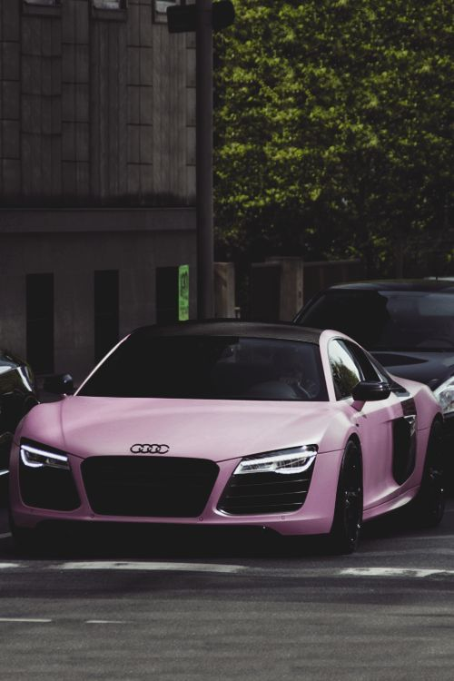 classyhustler: For my lady followers, Audi R8 V10 Plus matte pink – #Audi #cars … #Kochen