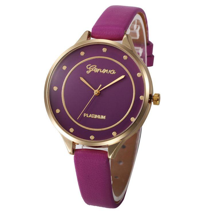 $4.76 (Buy here: https://alitems.com/g/1e8d114494ebda23ff8b16525dc3e8/?i=5&ulp=https%3A%2F%2Fwww.aliexpress.com%2Fitem%2FGeneva-Watches-Women-Fashion-Watch-2016-Candy-Color-Faux-Leather-Analog-Wrist-Watch-Horloges-vrouwen-Purple%2F32773767111.html ) Geneva Watches Women Fashion Watch 2016 Candy Color Faux Leather Analog Wrist Watch Horloges vrouwen Purple clock Feida for just $4.76