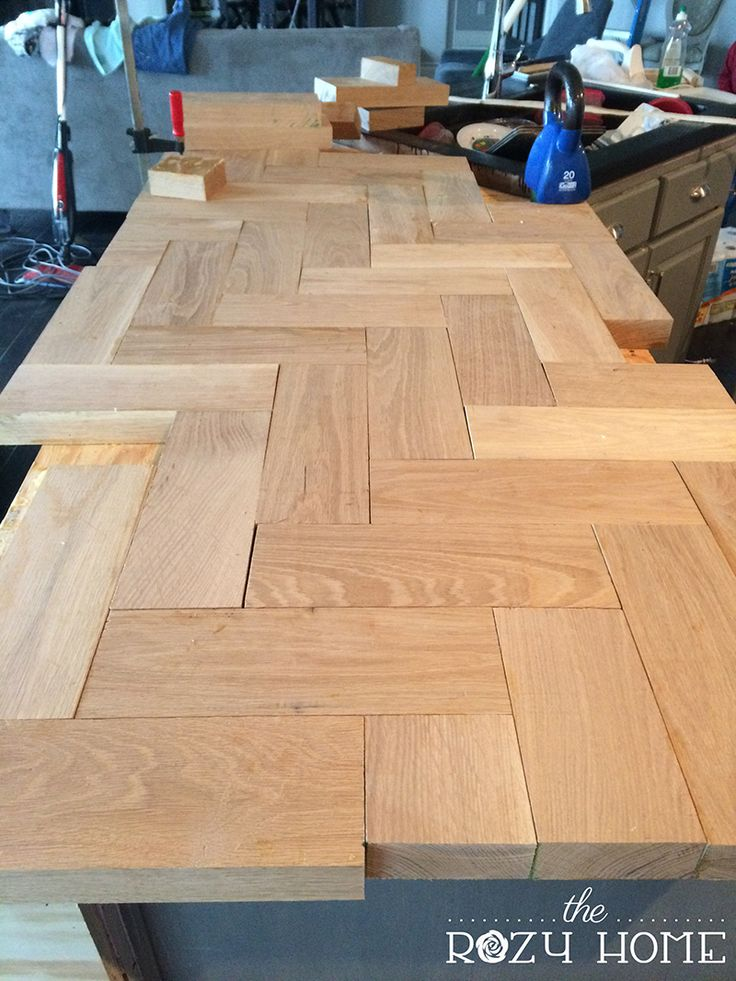 diy wood herringbone counters diy countertops kitchen counters kitchen