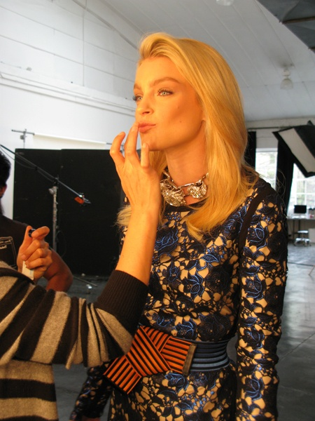 FLARE behind the scene cover shoot with Jessica Stam