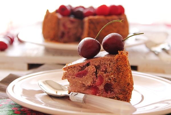 Cheesecake ciliegie e cioccolato fondente