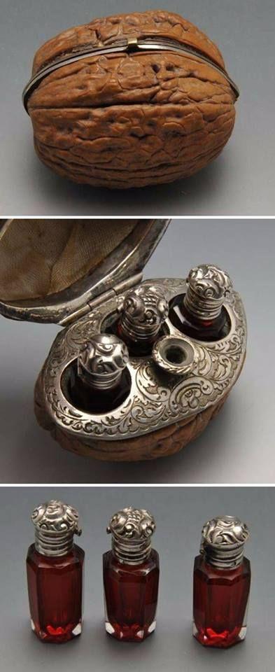 A little walnut box for keeping essential oils, France, XIX century