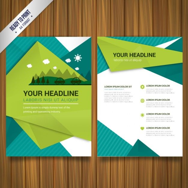 Brochura Ambiental Vetor grátis