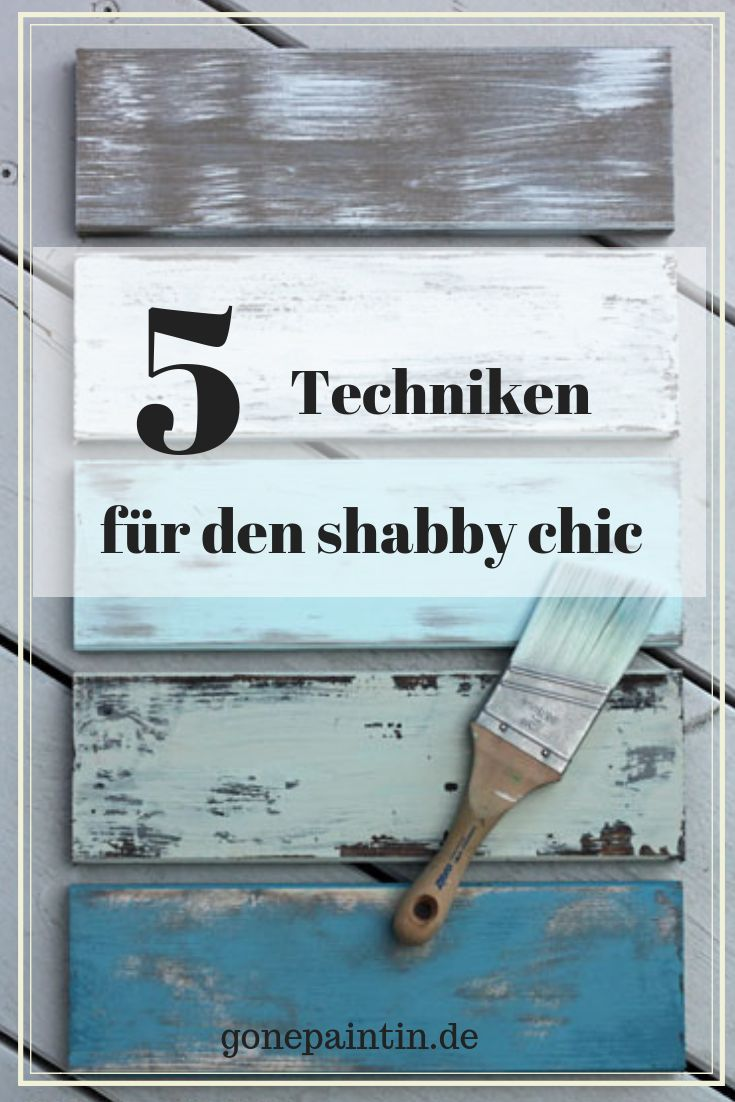 shabby chic – Techniken