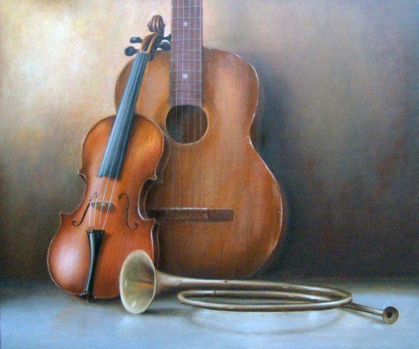 Bodegón Musical - Óleo sobre tela