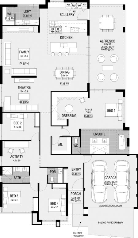 A floorplan for the Atlanta Platinum. Another new display home from HGWA :) #hgwaliving