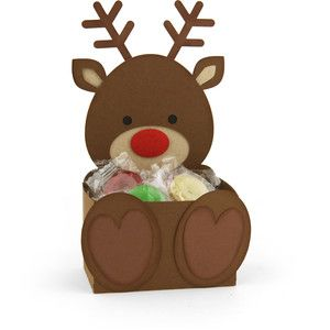 Silhouette Design Store - View Design #163099: belly box reindeer