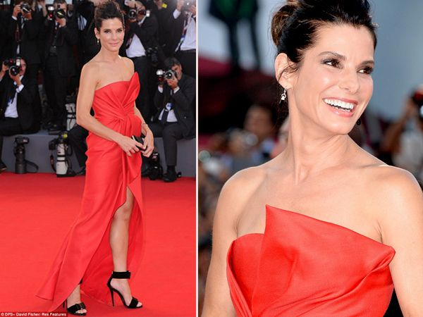 Gorgeous Sandra Bullock, Lady in Red