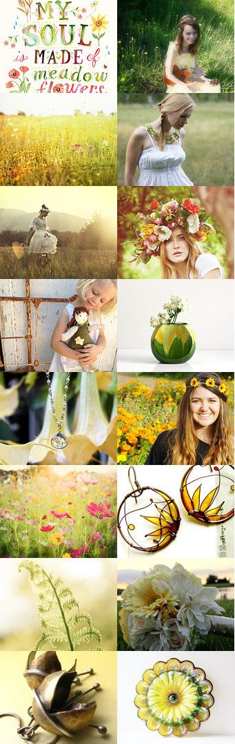 My Soul Made of Meadow Flowers by Anna Borysewicz-Segit on Etsy--Pinned with TreasuryPin.com