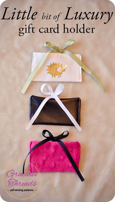The perfect combo of handmade and gift card! Little bit of Luxury gift card holder tutorial.