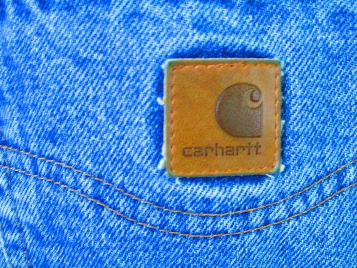 Mens Carhartt Jeans 34 x 33 blue 100% cotton Classic Straight Leg  #Carhartt #ClassicStraightLeg