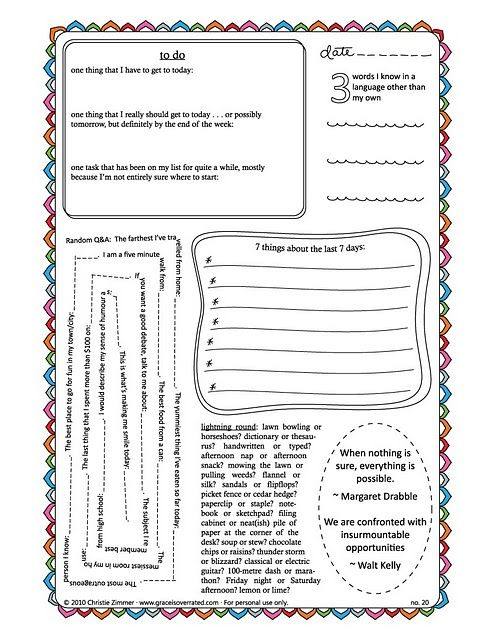 a blog of ideas for journaling