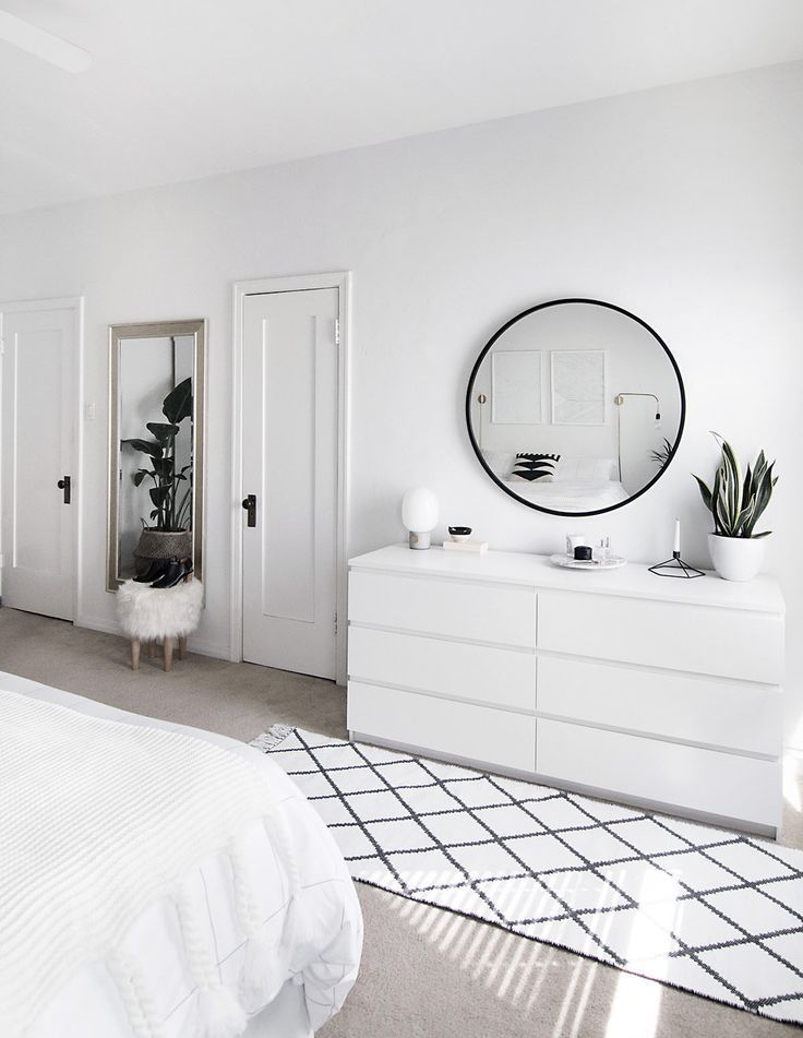 Damit der Teppich nicht verrutscht   – weiße schlafzimmer ideen