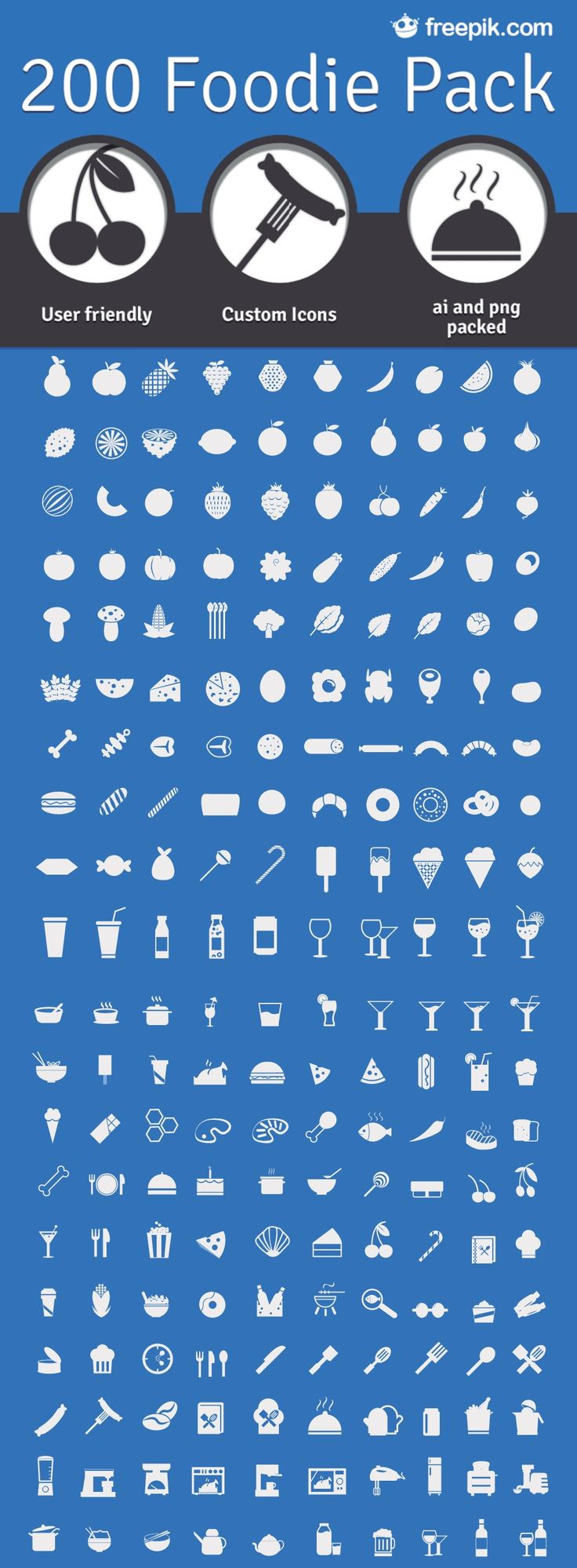 200 Free Food Icons