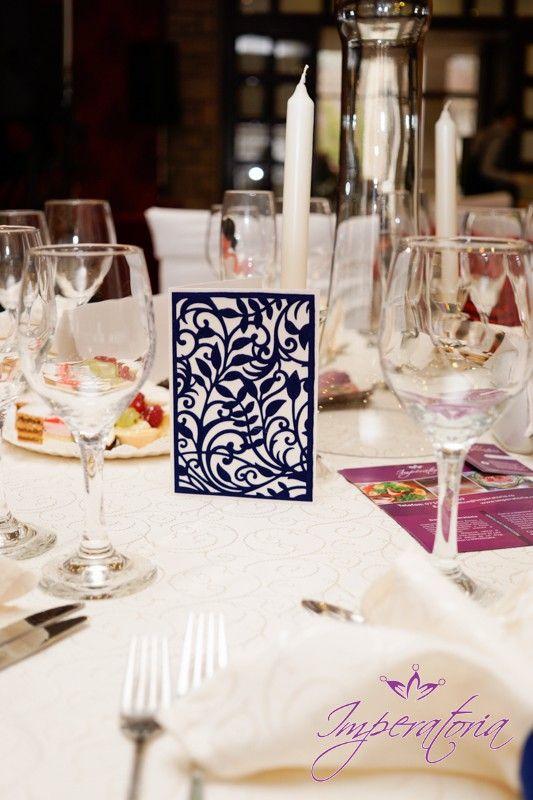 Invitatii handmade, filigran de catifea www.imperatoria.ro
