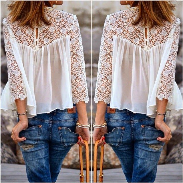 How to Chic: CITY CHIC - LACE AND DENIM - SHOP THE LOOK