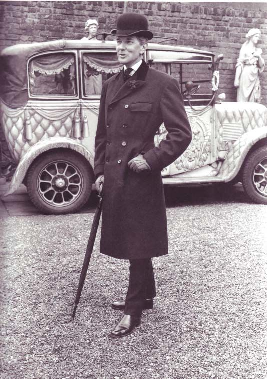 "A gentleman, dandy and sartorial icon, Neil ""Bunny"" Roger. #bowler #hat  --------------------------He's okay, but let's talk about that CAR!  Wouldn't the pups like to ride in that."