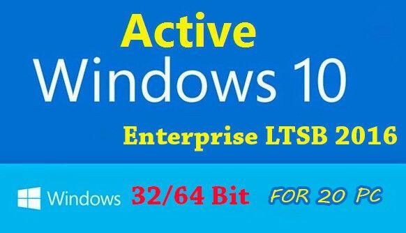 Wholesale Lots 159260 Win 10 Enterprise Ltsb For 20 Pc 32 64 Bit