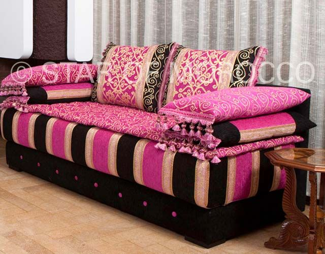 Moroccan style sofa bed mjob blog for Moroccan living room furniture 02