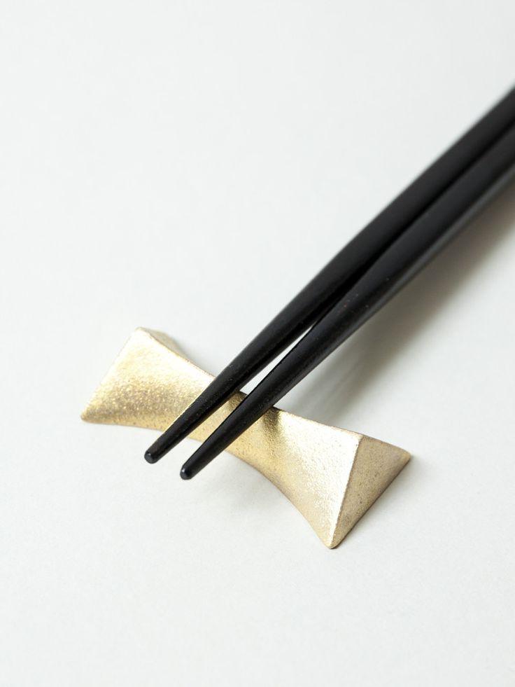 Futagami Brass Chopstick Rest - Flash