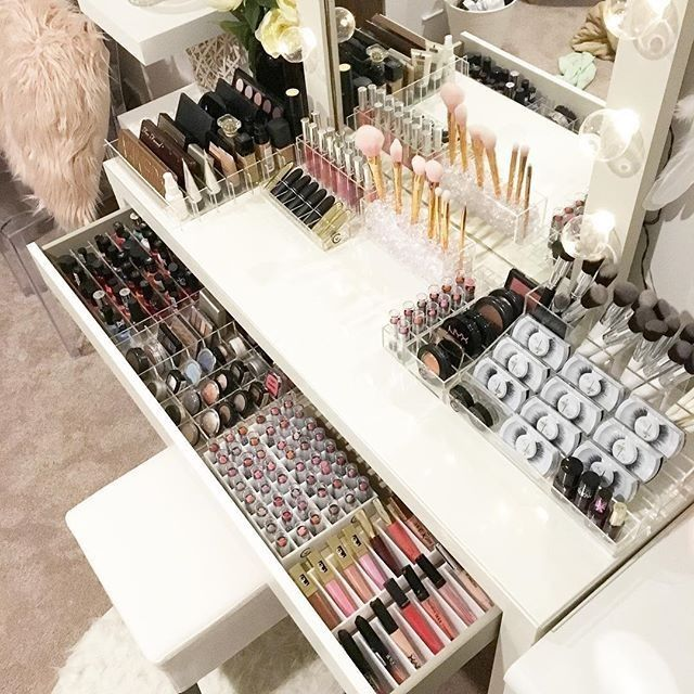 40 creative ways to organize vanity table makeup rooms on beautiful home desk organization ideas make comfortable what it will do for you id=49113