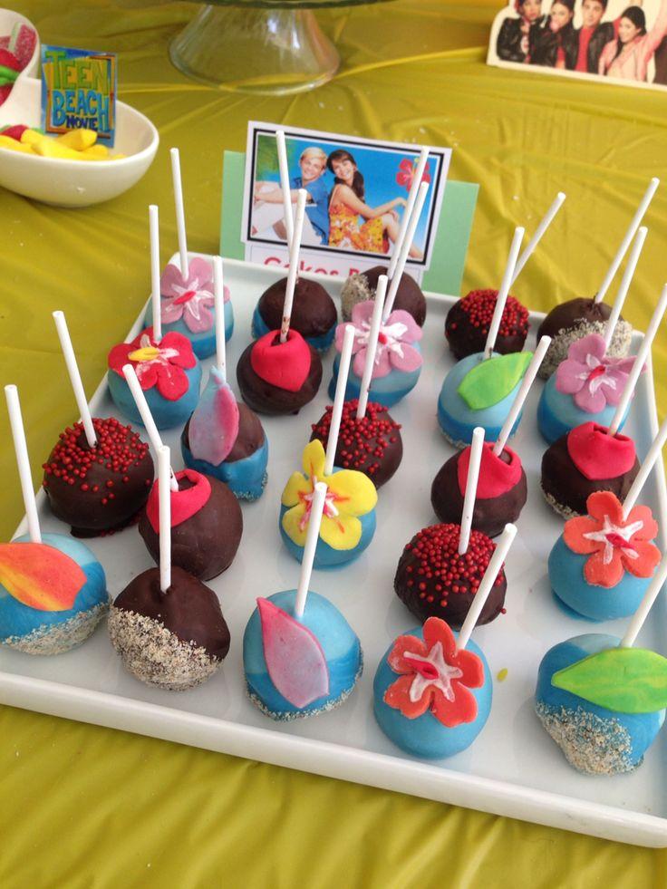 Cake pops cumpleaños playa  Teen Beach Movie