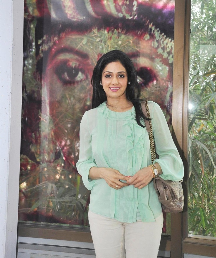 Sridevi at Whistling Woods International Campus in Mumbai