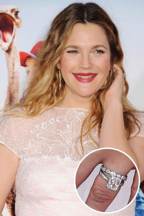 Drew Barrymore's ring. From round diamonds to heart-shaped gems, see the best celebrity engagement rings of all time (and get the details on each!)