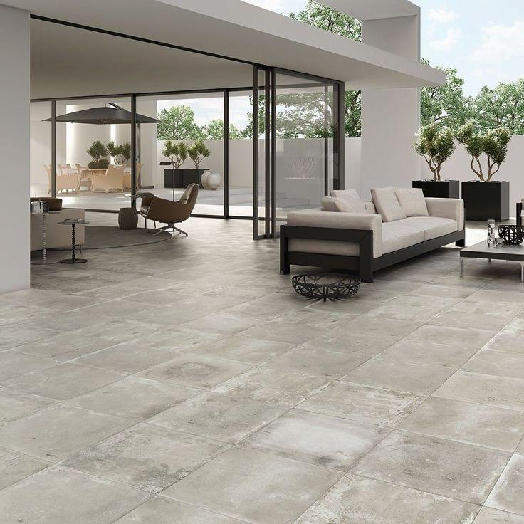 Smoked Embers Anti-Slip Tiles Foundry Concrete Effect Tiles 500x500x9.7mm Tiles