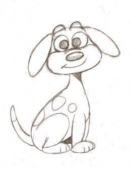 drawing a cartoon dog - Simple Cartoon Pics