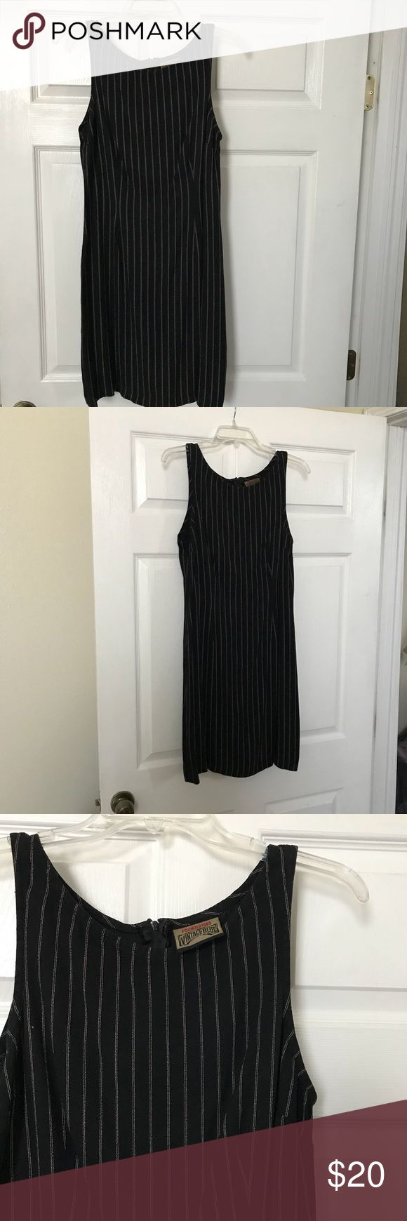 Vintage striped dress Worn once, had no size tag but fits a small perfectly. Im a size 4 in dresses. No damage, no rips no stains. Dresses
